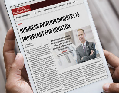 Bolen's Oped: Business Aviation Works