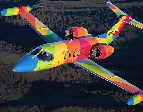Rainbow Lear Jet Makes Dreams Comes True